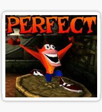 Crash Bandicoot - Perfect! Sticker