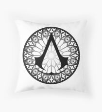 Assassin's Creed Notre Dame Throw Pillow