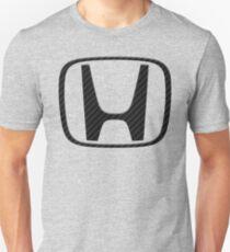 Carbon Fiber Honda Logo Unisex T-Shirt