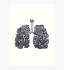 Lungs with peonies Kunstdruck