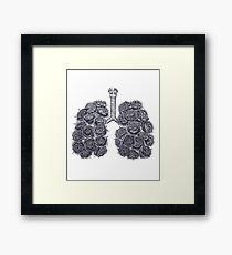 Lungs with peonies Gerahmtes Wandbild