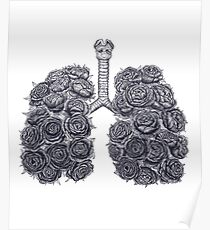 Lungs with peonies Poster