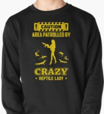 Patrolled By Crazy Reptile Pullover