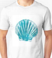 Aquamarine sea shell Unisex T-Shirt