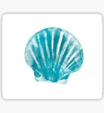 Aquamarine sea shell Sticker