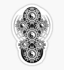 Oddly Balance - Yin Yang Mandala Sticker