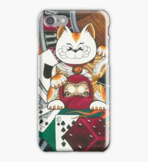 Lucky Cat Gambler iPhone Case/Skin