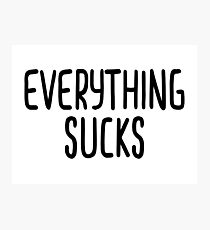 Bart Simpson - Everything Sucks Photographic Print