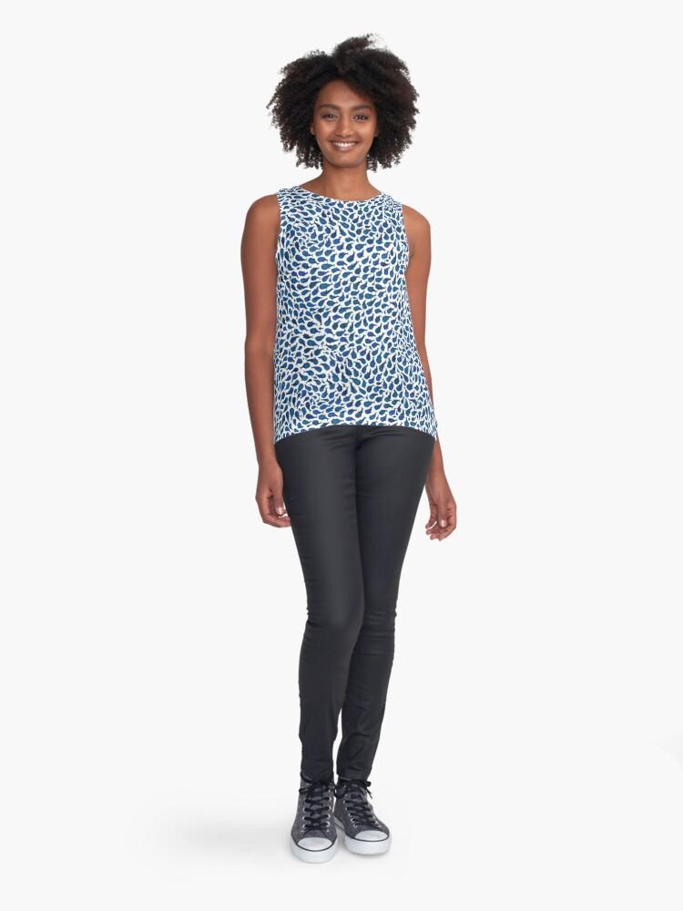 Vista alternativa de Blusa sin mangas Ballenas azules de acuarela