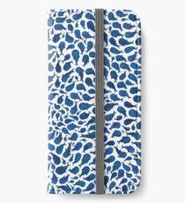 Vinilo o funda para iPhone Ballenas azules de acuarela