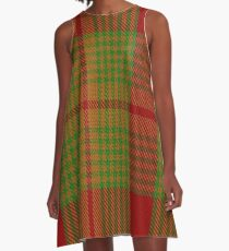 01580 Antigua & Barbuda District Tartan  A-Line Dress