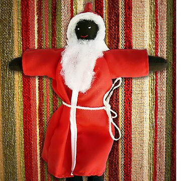 Black Santa greeting card by tdoes