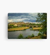 Travel photography of Carcassonne castle, France Canvas Print