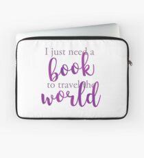 I just need a book to travel the world Funda para portátil