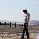 Onlookers were delighted at Dave's new Inspector gadget metal detecting Third leg....Much fun was always had with his third leg on quiet evenings in. by peterpan