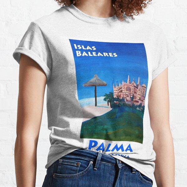 Palma de Mallorca with La Seu Cathedral - Retro Vintage Poster Classic T-Shirt