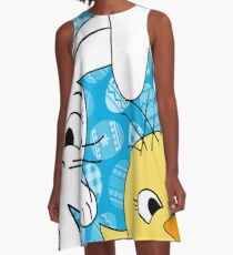 Easter bunny and chick  A-Line Dress