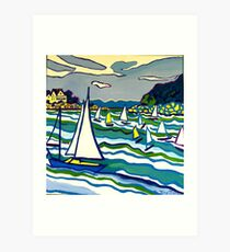 Sailing School Art Print