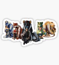 Voltron the Complete Team Sticker