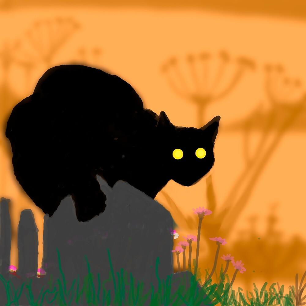 Midnight Cat by Catherine Brock