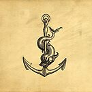 Anchor Vintage Tatoo Illustration by Edward Fielding