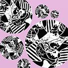 Black and white Bubbles by Printpix