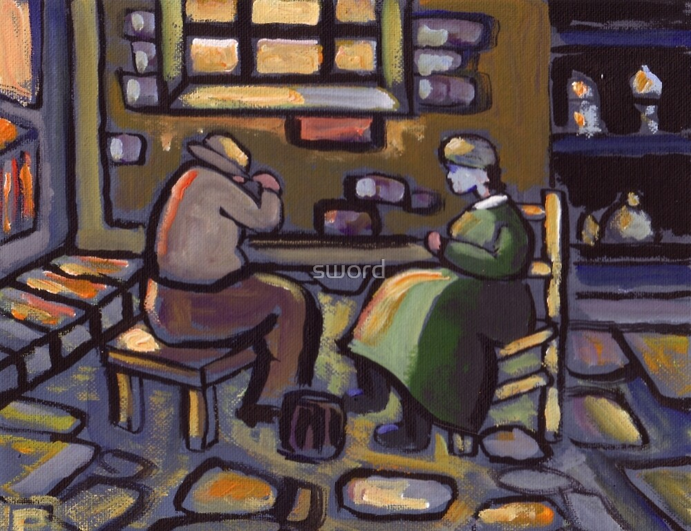The odd couple (from my original acrylic painting) by sword