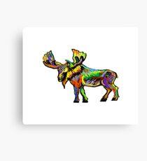 The Vibrant Bull Canvas Print