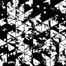 Splatter Triangles In Black And White by Printpix