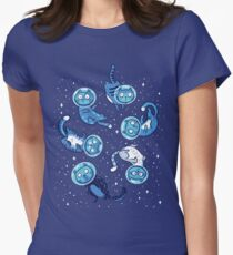 Galaxy cats Women's Fitted T-Shirt
