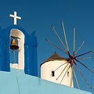 Belfry and Windmill, Oia, Santorini by Petr Svarc