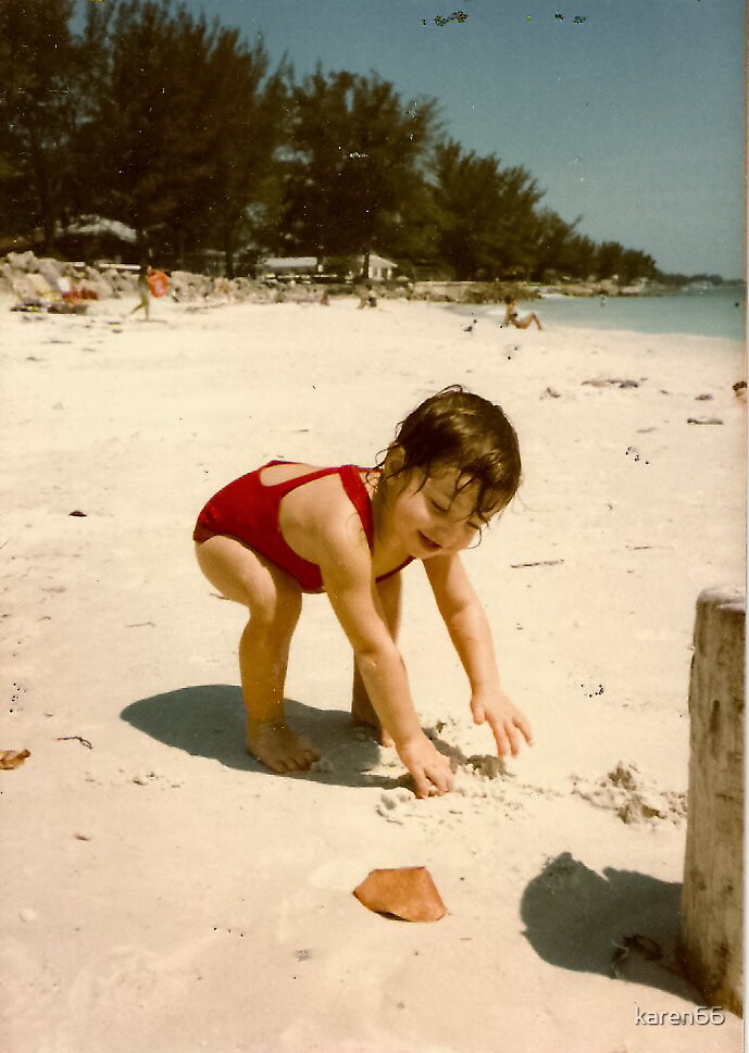 Baby Digging In the Sand by karen66