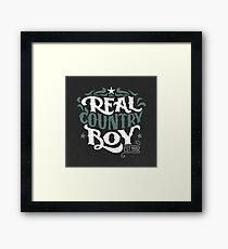 Real Country Boy Framed Print