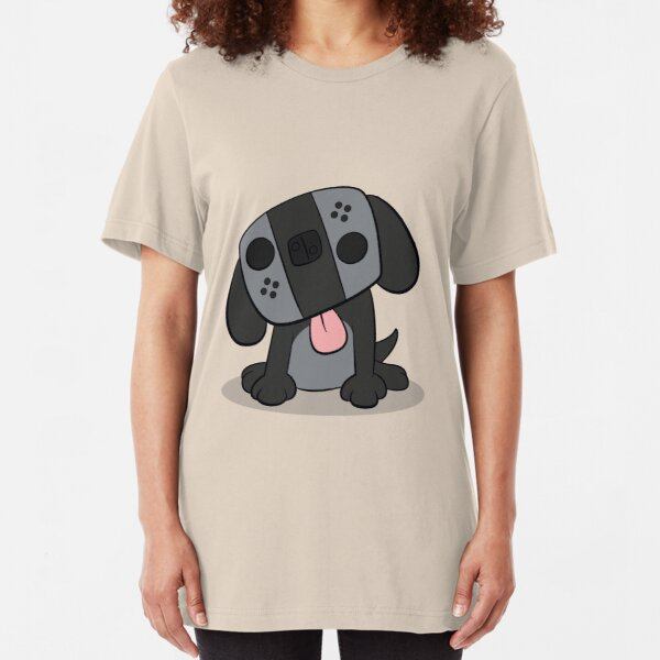 Nintendo Switch Dog Cartoon Slim Fit T-Shirt