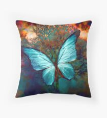 The Blue Butterfly Coussin