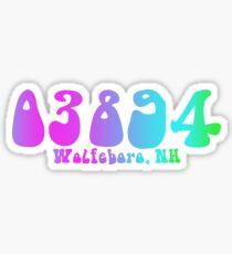 03894 Wolfeboro, NH Sticker