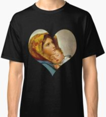 Madonna Nativity Virgin Mary and Child Jesus Mother Christ Classic T-Shirt