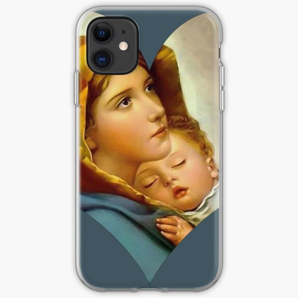 Madonna Nativity Virgin Mary and Child Jesus Mother Christ iPhone Soft Case