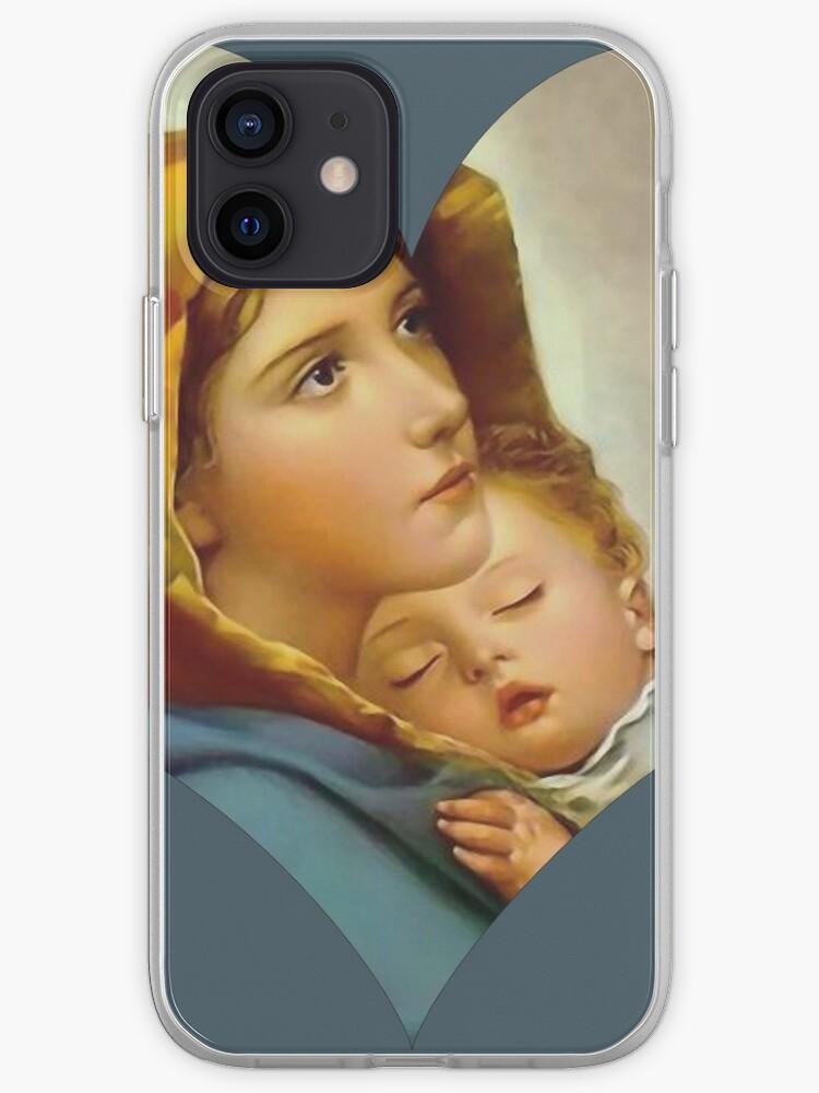 Madonna Nativité Vierge Marie et Enfant Jésus Mère Christ | Coque iPhone