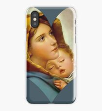 Madonna Nativity Virgin Mary and Child Jesus Mother Christ iPhone Case/Skin