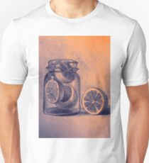 Still life drawing with oranges and jar T-Shirt