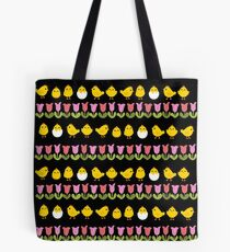 Easter - chick and tulips Tote Bag