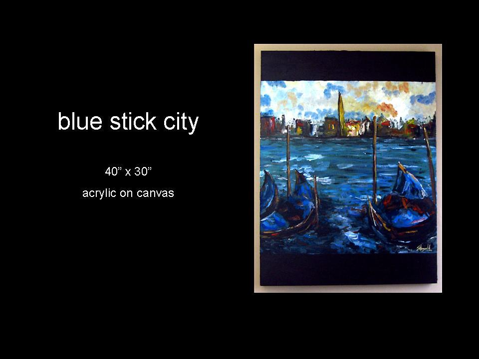 blue stick city by stephaniehoogveld