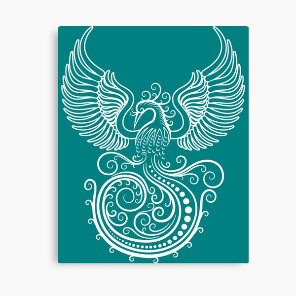 White Phoenix Canvas Print