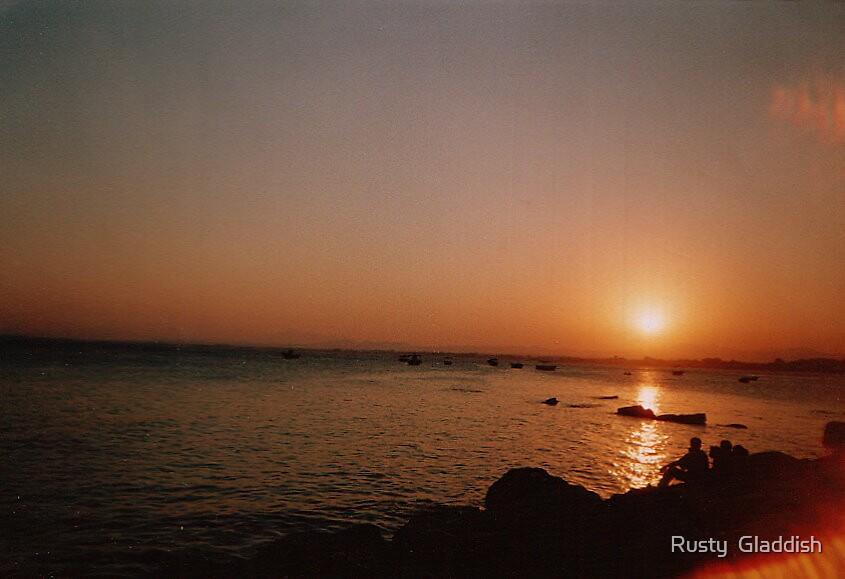 Sunset at Hammamet Beach (Tunisia) by Rusty  Gladdish