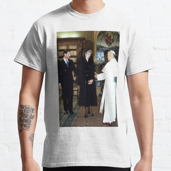 TRH Prince and Princess of Wales and The Pope Classic T-Shirt
