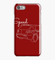 MazdaSpeed 3 Outline - Speed Artwork iPhone Case/Skin