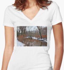 Winter Women's Fitted V-Neck T-Shirt