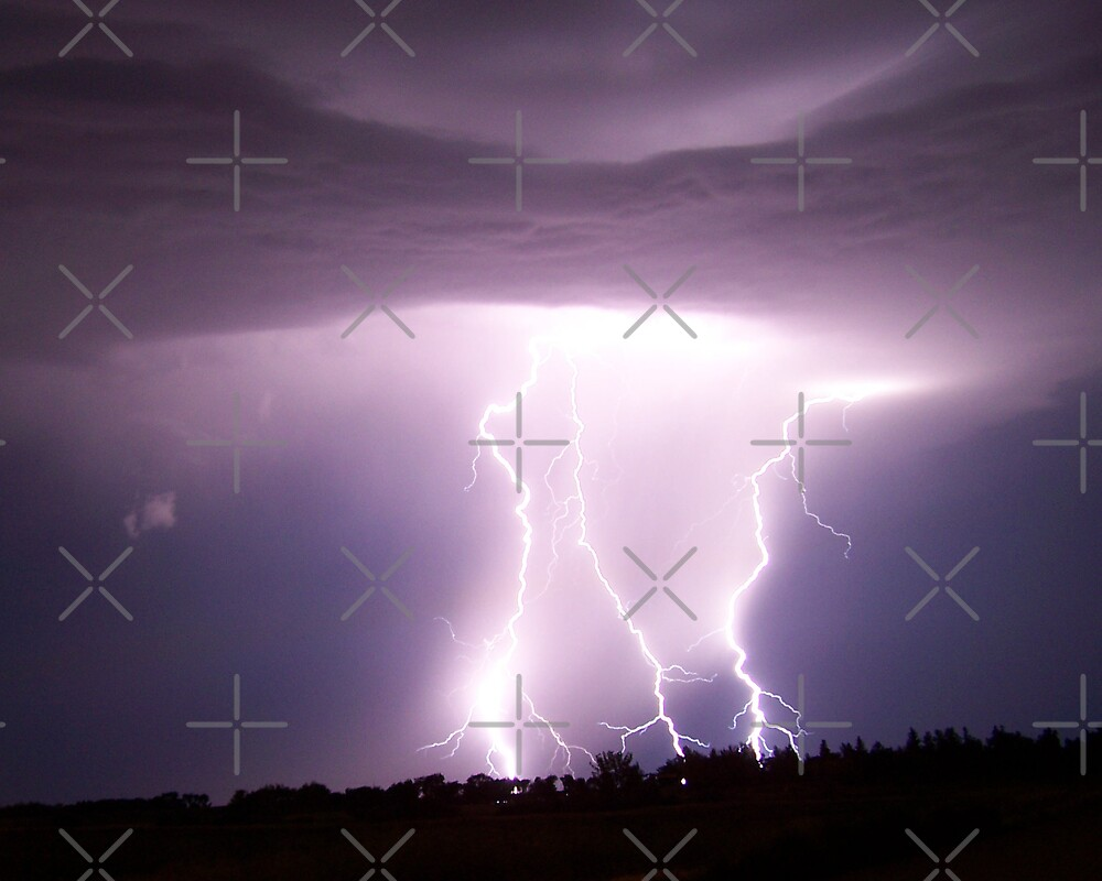Lightning and cloud. by Angela E.L. Clements