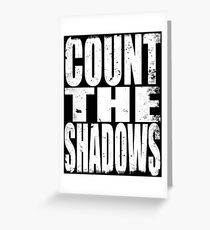 Count the Shadows Greeting Card